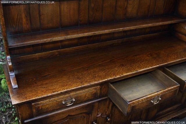 Image 41 of TITCHMARSH GOODWIN STYLE OAK WELSH DRESSER BASE SIDEBOARD