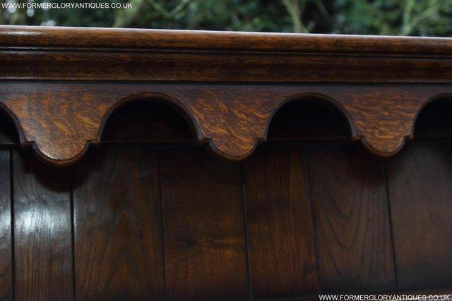 Image 43 of TITCHMARSH GOODWIN STYLE OAK WELSH DRESSER BASE SIDEBOARD