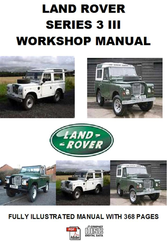 Preview of the first image of Land Rover Series 3 (1971 - ) Workshop Service Repair Manual.