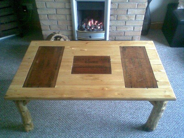 Preview of the first image of Handmade Rustic Coffee Table.