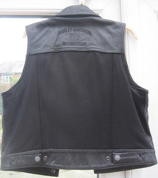 Preview of the first image of Harley-Davidson Ladies leather waistcoat.