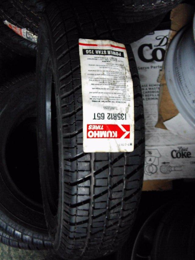 Image 3 of CLASSIC METRO Mk 1 - FIAT 600 OR TRAILER TYRES NEW 135 X 12