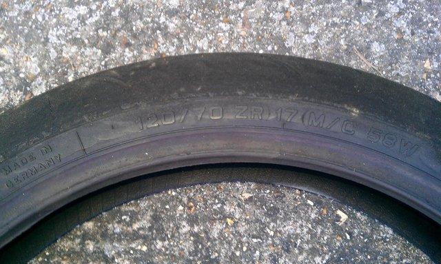 Image 3 of Metzeler RaceTec 120/70/17 ZR M/C 58W Front Tyre