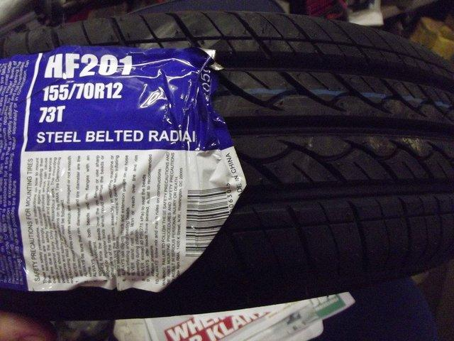Preview of the first image of NEW 155 70 x 12 TYRES MG METRO HL METRO or TRAILER.