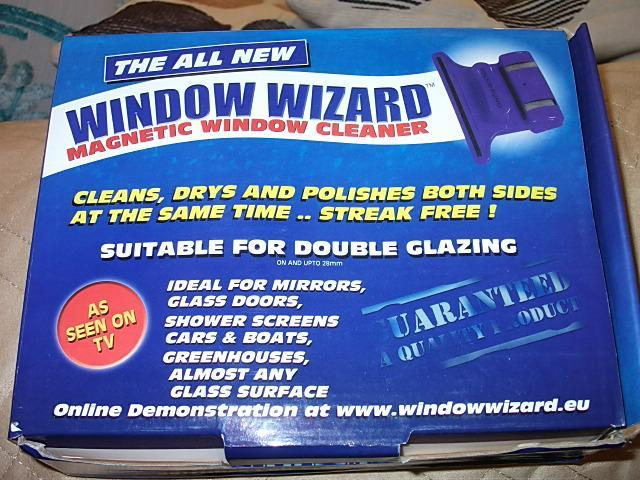 advert description window wizard magnetic window cleaning