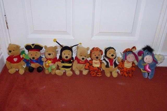Image 3 of Various Beanie Babies including Mickey, Minnie and Pooh