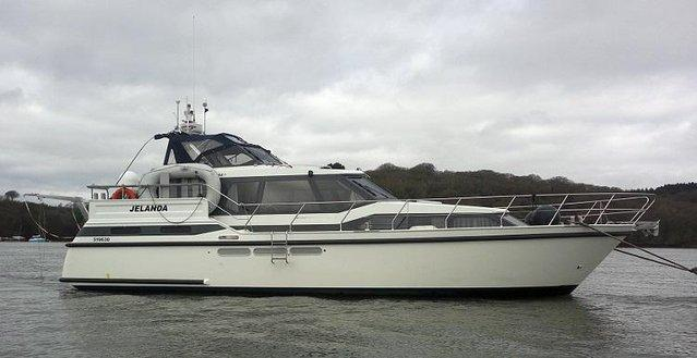 Preview of the first image of 12.5m offshore / live aboard twin screw cruiser.