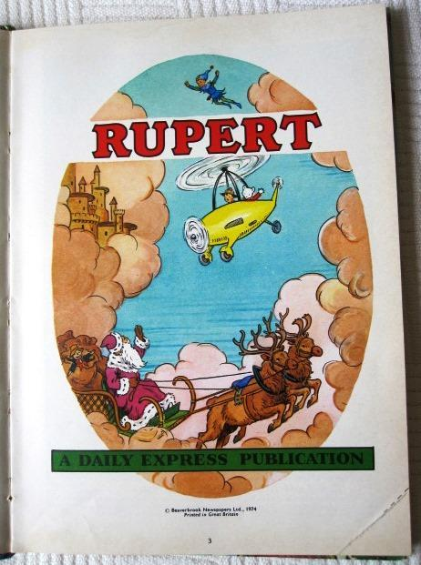 Preview of the first image of Daily Express Rupert Bear Annual  -  1974.