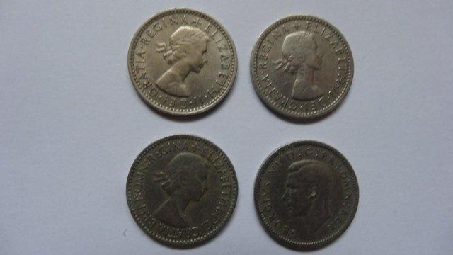 Image 2 of Six Pence Coins.