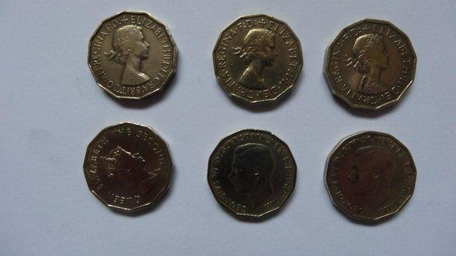 Preview of the first image of British Three Penny Pieces..