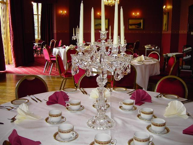 Luxury Glass Candelabras 60cm High And Holds 5 Candles These Are All Very Elegant With Beads Droplets Will Add That Special Touch To