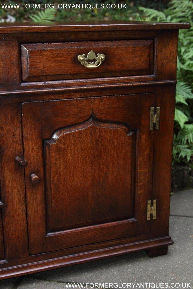 Image 9 of TITCHMARSH AND GOODWIN OAK DRESSER BASE SIDEBOARD HALL TABLE
