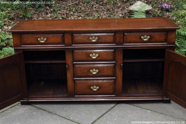 Image 11 of TITCHMARSH AND GOODWIN OAK DRESSER BASE SIDEBOARD HALL TABLE