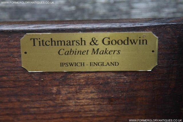 Image 12 of TITCHMARSH AND GOODWIN OAK DRESSER BASE SIDEBOARD HALL TABLE