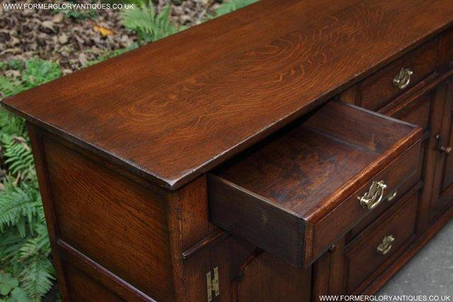 Image 15 of TITCHMARSH AND GOODWIN OAK DRESSER BASE SIDEBOARD HALL TABLE