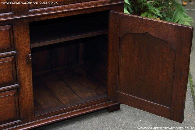 Image 19 of TITCHMARSH AND GOODWIN OAK DRESSER BASE SIDEBOARD HALL TABLE