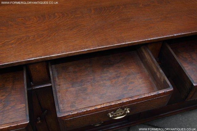 Image 28 of TITCHMARSH AND GOODWIN OAK DRESSER BASE SIDEBOARD HALL TABLE
