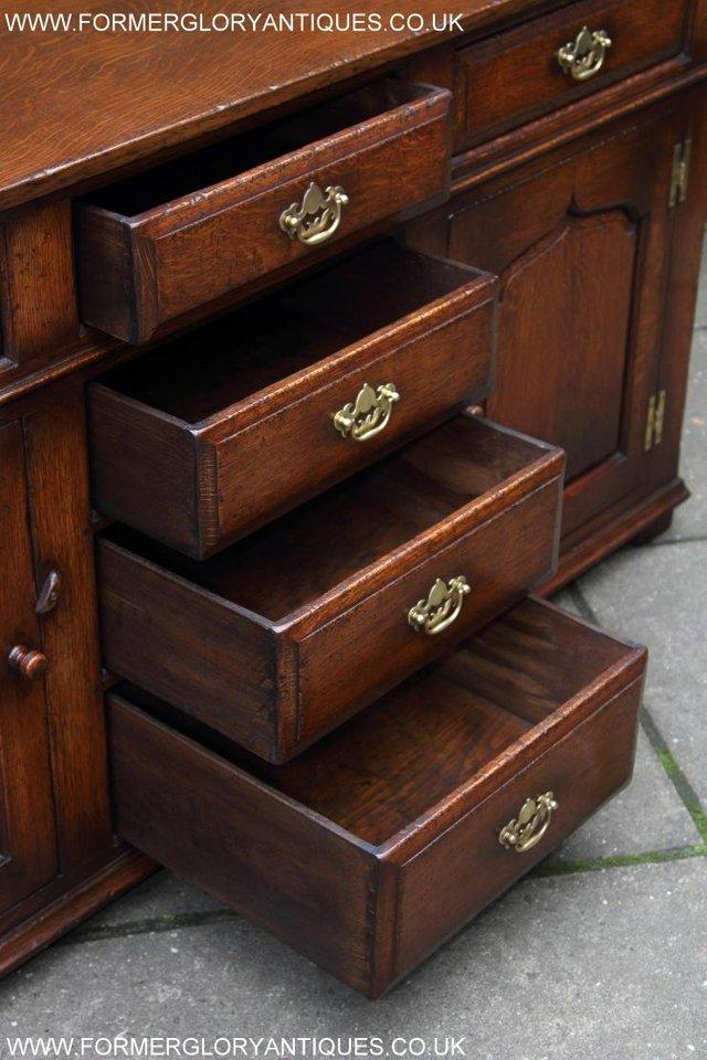 Image 32 of TITCHMARSH AND GOODWIN OAK DRESSER BASE SIDEBOARD HALL TABLE
