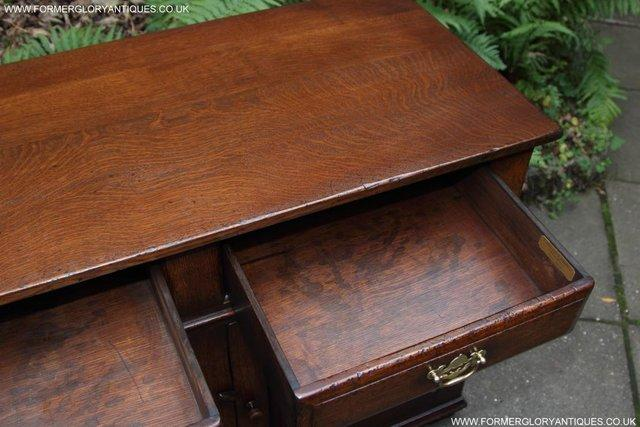 Image 35 of TITCHMARSH AND GOODWIN OAK DRESSER BASE SIDEBOARD HALL TABLE