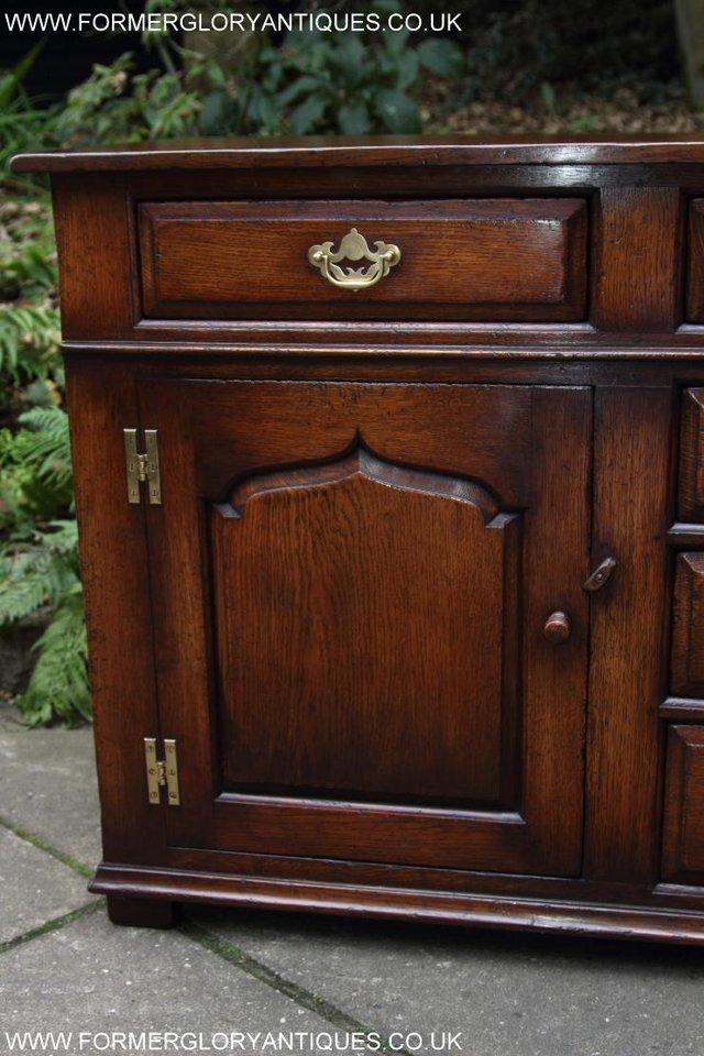 Image 40 of TITCHMARSH AND GOODWIN OAK DRESSER BASE SIDEBOARD HALL TABLE