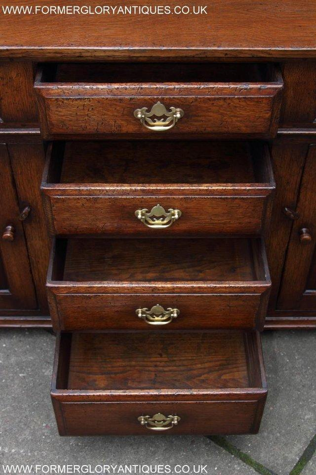 Image 41 of TITCHMARSH AND GOODWIN OAK DRESSER BASE SIDEBOARD HALL TABLE