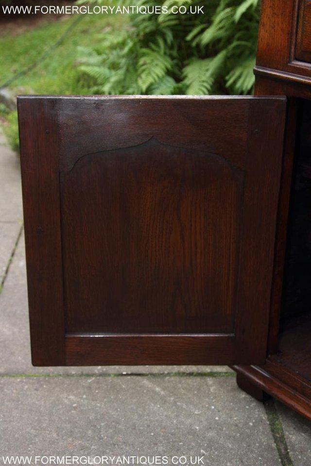 Image 43 of TITCHMARSH AND GOODWIN OAK DRESSER BASE SIDEBOARD HALL TABLE