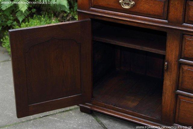 Image 46 of TITCHMARSH AND GOODWIN OAK DRESSER BASE SIDEBOARD HALL TABLE