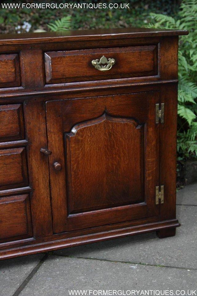 Image 52 of TITCHMARSH AND GOODWIN OAK DRESSER BASE SIDEBOARD HALL TABLE
