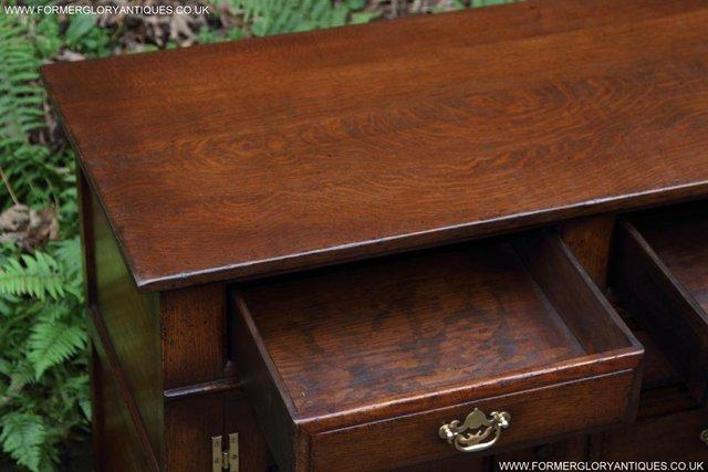 Image 53 of TITCHMARSH AND GOODWIN OAK DRESSER BASE SIDEBOARD HALL TABLE