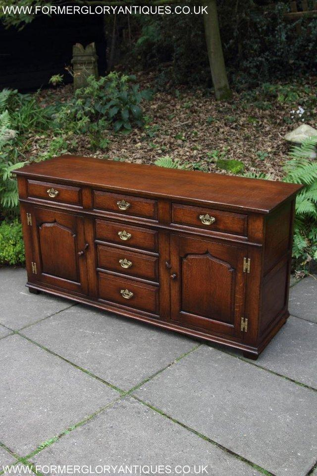 Image 58 of TITCHMARSH AND GOODWIN OAK DRESSER BASE SIDEBOARD HALL TABLE
