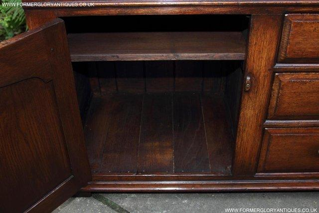 Image 62 of TITCHMARSH AND GOODWIN OAK DRESSER BASE SIDEBOARD HALL TABLE