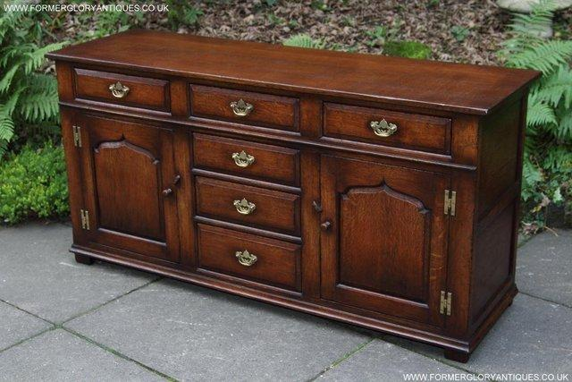 Image 65 of TITCHMARSH AND GOODWIN OAK DRESSER BASE SIDEBOARD HALL TABLE