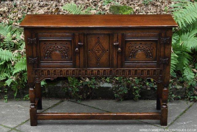 Preview of the first image of TITCHMARSH GOODWIN OAK DRESSER BASE SIDEBOARD TABLE CABINET.