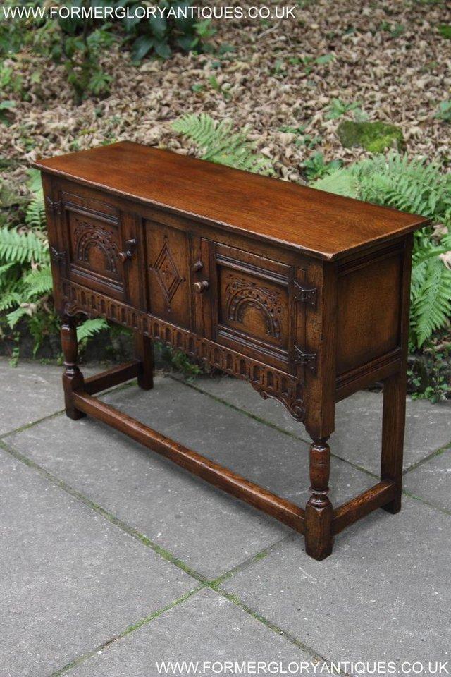Image 6 of TITCHMARSH GOODWIN OAK DRESSER BASE SIDEBOARD TABLE CABINET