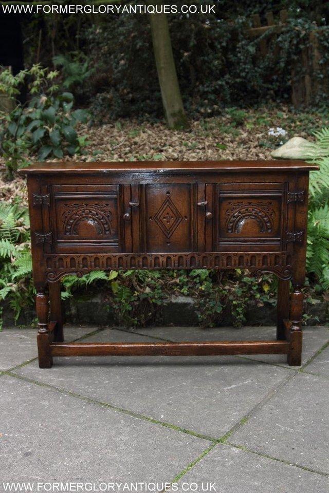 Image 8 of TITCHMARSH GOODWIN OAK DRESSER BASE SIDEBOARD TABLE CABINET