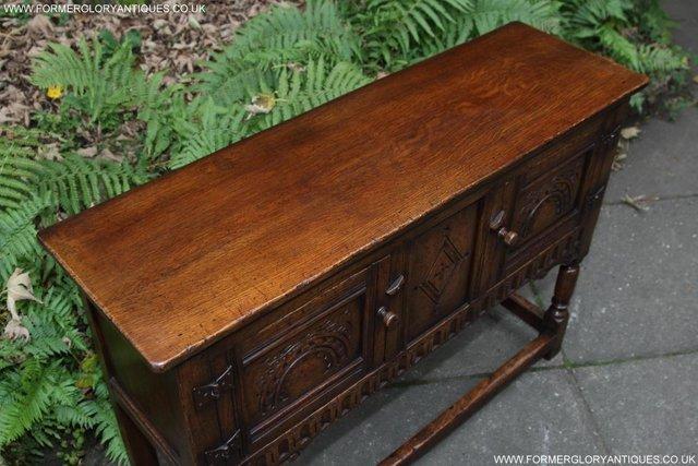 Image 9 of TITCHMARSH GOODWIN OAK DRESSER BASE SIDEBOARD TABLE CABINET