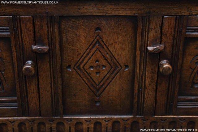 Image 21 of TITCHMARSH GOODWIN OAK DRESSER BASE SIDEBOARD TABLE CABINET