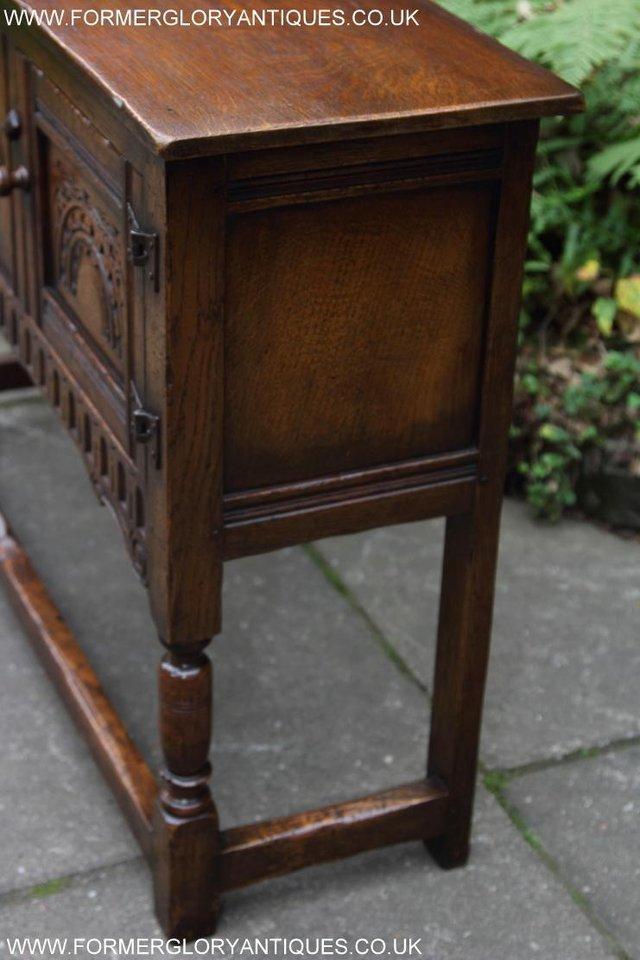 Image 24 of TITCHMARSH GOODWIN OAK DRESSER BASE SIDEBOARD TABLE CABINET