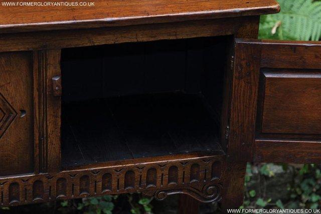 Image 32 of TITCHMARSH GOODWIN OAK DRESSER BASE SIDEBOARD TABLE CABINET