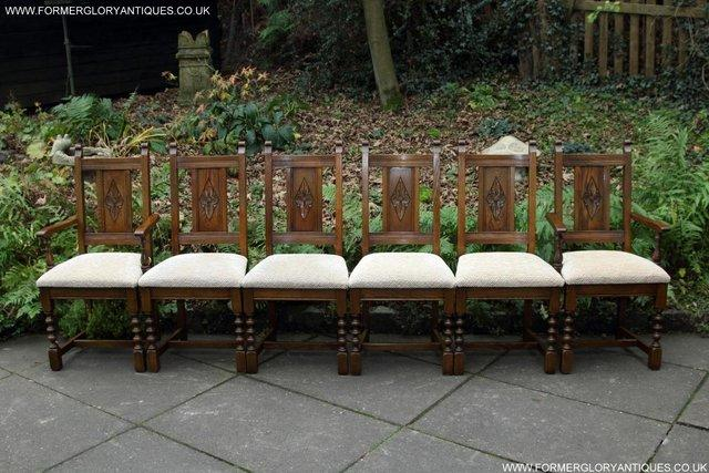 Image 2 of SIX OLD CHARM JAYCEE LIGHT OAK KITCHEN TABLE DINING CHAIRS