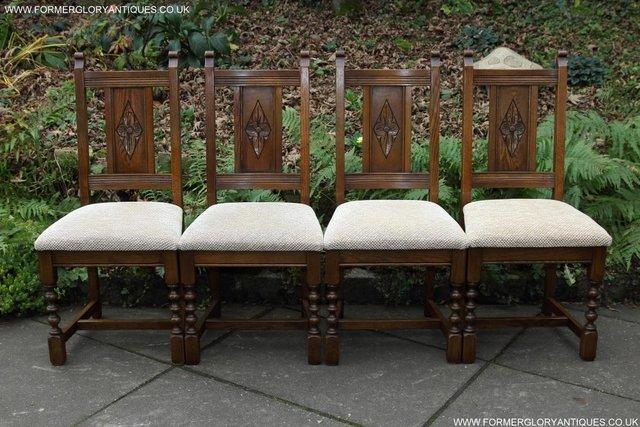 Image 3 of SIX OLD CHARM JAYCEE LIGHT OAK KITCHEN TABLE DINING CHAIRS