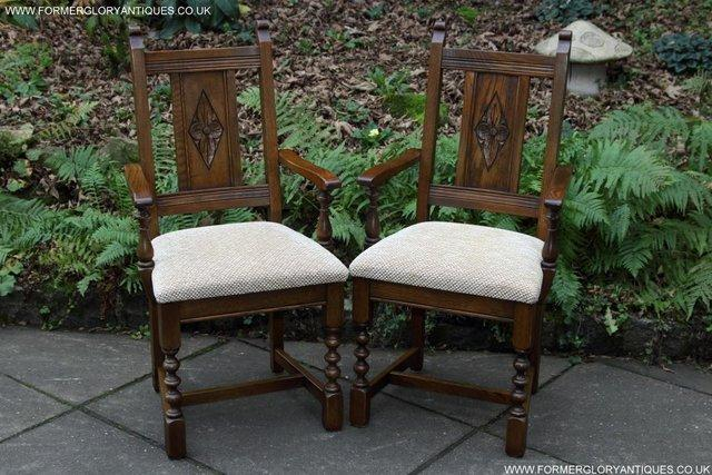 Image 5 of SIX OLD CHARM JAYCEE LIGHT OAK KITCHEN TABLE DINING CHAIRS
