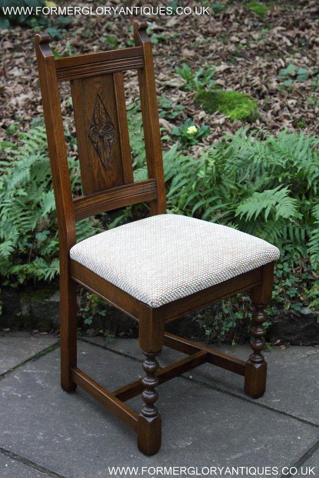 Image 6 of SIX OLD CHARM JAYCEE LIGHT OAK KITCHEN TABLE DINING CHAIRS