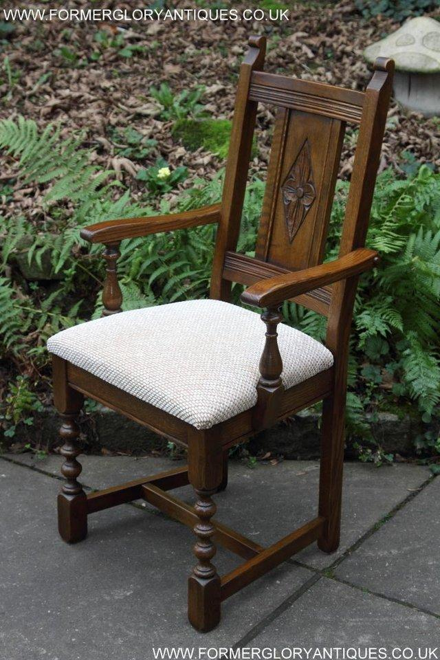 Image 10 of SIX OLD CHARM JAYCEE LIGHT OAK KITCHEN TABLE DINING CHAIRS