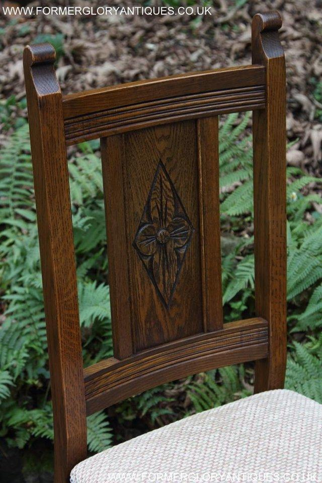 Image 11 of SIX OLD CHARM JAYCEE LIGHT OAK KITCHEN TABLE DINING CHAIRS