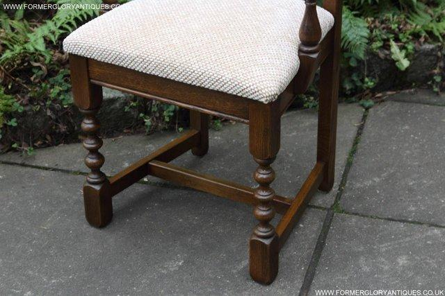 Image 12 of SIX OLD CHARM JAYCEE LIGHT OAK KITCHEN TABLE DINING CHAIRS