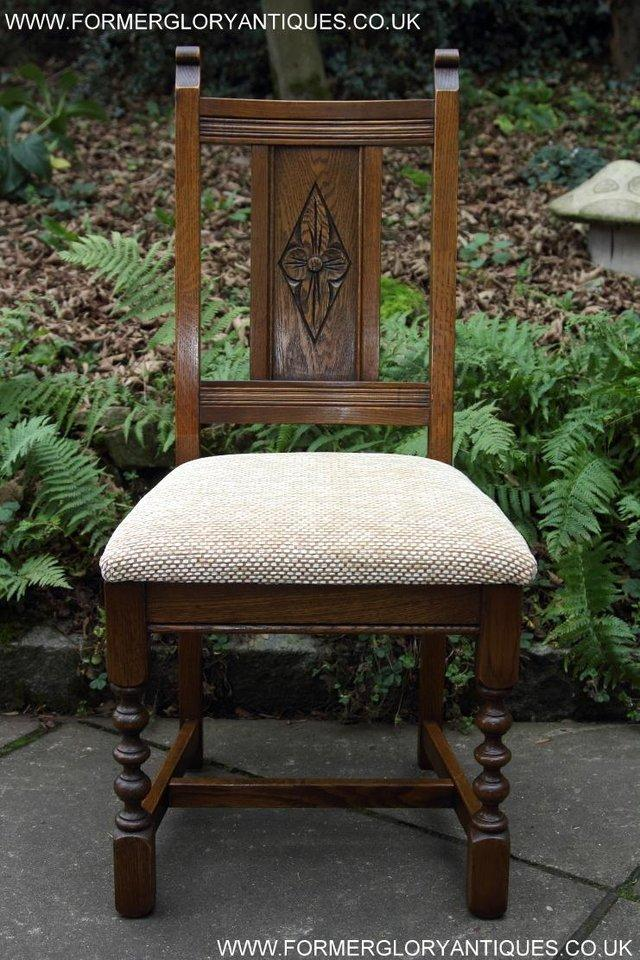 Image 15 of SIX OLD CHARM JAYCEE LIGHT OAK KITCHEN TABLE DINING CHAIRS
