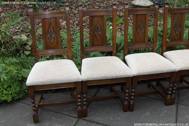 Image 17 of SIX OLD CHARM JAYCEE LIGHT OAK KITCHEN TABLE DINING CHAIRS