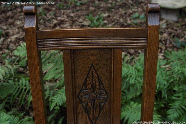 Image 18 of SIX OLD CHARM JAYCEE LIGHT OAK KITCHEN TABLE DINING CHAIRS
