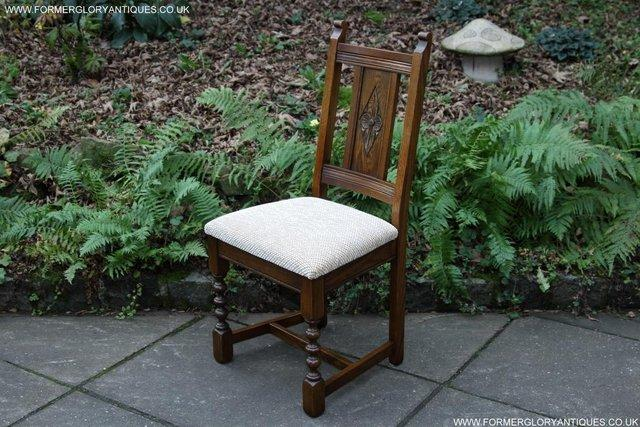 Image 19 of SIX OLD CHARM JAYCEE LIGHT OAK KITCHEN TABLE DINING CHAIRS